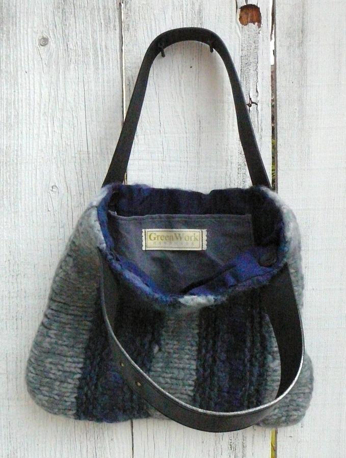 felted bag inside
