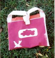 silkscreened bag