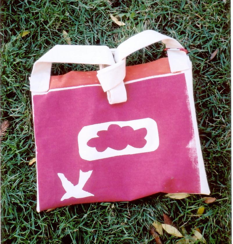 silkscreened bag