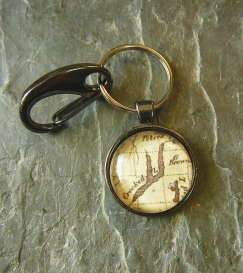 Keuka Lake 1796 key ring