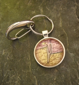 Keuka Lake 1839 key ring