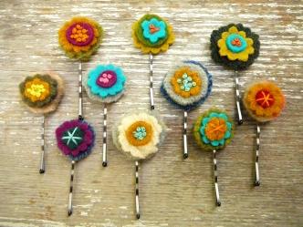 mod flower hairpin